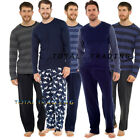 Mens Pyjama Long Sleeve Top Trousers Pj Nightwear Cotton Lounge Wear  PYJAMAS