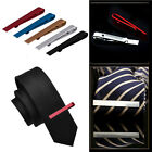 Men New Stainless Steel Silver Tone Simple Necktie Tie Bar Clasp Clip Clamp Pins