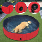 Foldable PVC Pet Pool Swimming Cooling Cat Dog Puppy Bathtub Indoor Outdoor Red