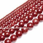 2-11 mm Red Natural Coral Gemstone Loose Round Spacer Beads Fit Jewelry Making