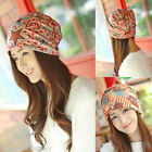 FL New Womens Pattern Multifunctional Beanie Hat Scarf Headband 3 in 1