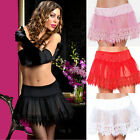 Plus Size Lingerie Sz Queen Black Pink Red or White Teardrop Petticoat STM10164X