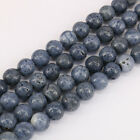 Lot 1 Bunch Blue Coral Natural Stone Round Loose Beads Fit Bracelet Necklace 15""