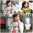 Retro Women Lady Elegant Pashmina Soft Cotton Wrap Shawl Scarf Long Voile Stole