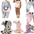 Hot Cute Girl Carton Pajamas Animal Printing Flannel Sleepwear Thicken Keep Warm