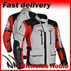 RICHA INFINITY MENS Grey Red D3o ARMOURED WATERPROOF MOTORCYCLE TOURING JACKET