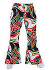 "70'S Gents ""Psychedelic Swirl""  Patterned FLARES !"