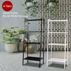 4-Shelf Metal Bookcase Storage Shelving Bookshelf Wall Ladder Shelf Display Rack