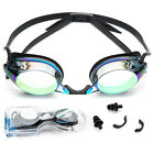 Adult Swimming Goggles Anti Fog UV Protect Adjustable Strap Nose Piece with Case