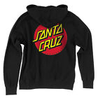 Santa Cruz Classic Dot Hooded Zip Sweatshirt Youth Black