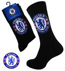 2 Boys CHELSEA Crest Badge FOOTBALL CLUB Soccer Team Socks UK 4-6