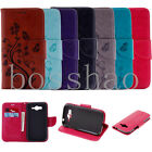 Flip Magnetic Wallet Cartoon flower PU leather stand Silicone phone cover case H