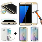 3D Tempered Glass Screen Protector + TPU Case For Samsung Galaxy Phones