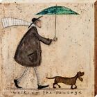 Sam Toft Walking The Sausage Canvas Print 40x40x3.8cm