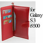 Leather Wallet Case Handbag Card Slot Cover Glass SP For Samsung Galaxy S3 i9300