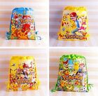 Lot Pikachu Pokemon Double sided children Bags School bag Draw string backpack