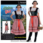 CL977 Alpine Girl Oktoberfest Beer Maid Wench Dirndl Bavarian Dress Up Costume