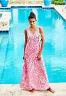 New Lilly Pulitzer MALLORY MAXI Dress 4 6 Fits 6 8 10 Capri Pink Papaya Playa