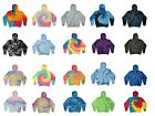 Tie Dye Hoodie Sweatshirts Multicolored Adult Large Cotton Pockets No Zipper