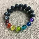 Handcrafted Lava Stone Aromatherapy Memory Wire Bracelet ~ Handmade