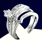 New 0.80 CT Clear Solitaire CZ Women's Engagement Wedding Bridal Ring Band