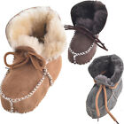 Lambland Baby / Children's Sheepskin Booties with Lace Up Fastening