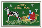 Great Dane Christmas Card Embroidered by Dogmania