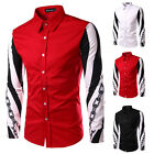 New Men's Trendy Stylish Slim Long Sleeve Buttons Casual Shirt Design Top Dress