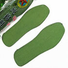 Fashion 1 Pair Unisex 100% Cotton Army Green Absorbent Breathable Shoe Insoles