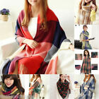 FL New Winter Korean Women Scarf Cashmere Lattice Tassel Shawl Wraps Scarves