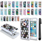 For Apple iPhone 6/ 6s 4.7 inch Anti Shock Studded Bling HYBRID Case Cover + Pen