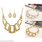 1 Set Women Fashion Simple Retro Geometry Irregular Polygon Necklace 45cm