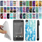 For HTC Desire 530 630 Various Design TPU SILICONE Protective Case Cover + Pen