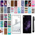 For Sony Xperia Z5 5.2 inch Design TPU SILICONE Soft Protective Case Cover + Pen