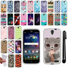 For ZTE Grand X3 Z959 Warp 7 N9519 TPU SILICONE Soft Protective Case Cover + Pen