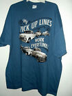 NEW VINTAGE pickup T SHIRT CHEVY GMC  MY PICKUP LINES WORK EVERY TIME  2x or 3x