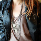 Bohemian Vintage Leaves Multi-layer Long Necklace Pendant Chain Charm Jewelry