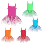 Girls Dance Gauze Polyamide Leotard Gymnastic Butterfly Sleeveless