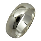 Sterling Silver Plain 6mm Wedding Band Ring Half Round Dome Engagement .925
