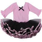 Girls Fairy Party Cotton Dancewear Bow Knot Dancing Middle Sleeve
