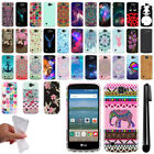 For LG Optimus Zone 3 VS425PP/ K4 Cute Design TPU SILICONE Case Cover + Pen