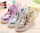 BD New Boy Girl LED Light Flashing Athletic Sneakers Wings Shoes Kids Child