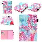 Fashion Tribal Floral Wallet PU Leather Book Stand Case Cover For Ipad Samsung