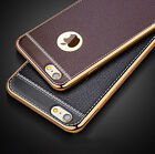 For iPhone 7 6s Plus Luxury Slim Ultra-thin PU Leather Soft Phone Case Cover TPU