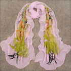 Womens Girl Candy pink Color long soft chiffon scarf Wrap Shawl Scarve