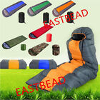 Adult 3/4-5 Season Envelope Sleeping Bag Camping Hiking Suit Case Bag Free Ship