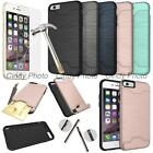 "For iPhone 6 4.7"" Glass Film Card Armor Brushed Cover Case"