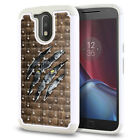 "For Motorola Moto G4/ G4 Plus 5.5"" Studded Sparkle HYBRID Case Cover + Pen"