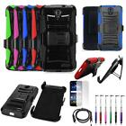 Phone Case For ZTE Warp 7 LTE Holster Rugged Cover USB Charger Film Stylus