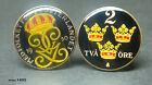 Sweden coin cufflinks  2 ORE head and tail